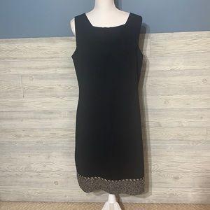 NWOT Gorgeous black sheath dress